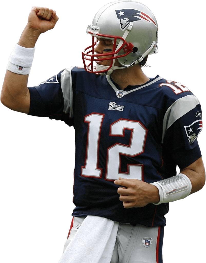 Tom Brady New England Patriots transparent PNG.