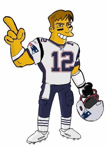 Super Bowl Snack Taco Dip Recipe and Tom Brady Clip Art.