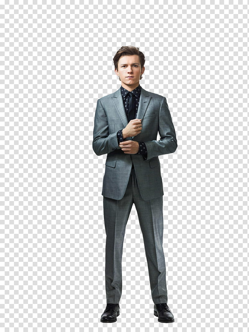 Tom Holland transparent background PNG clipart.