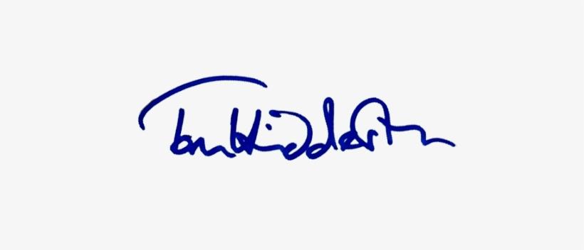 Transparent Signature Of Tom Hiddleson.