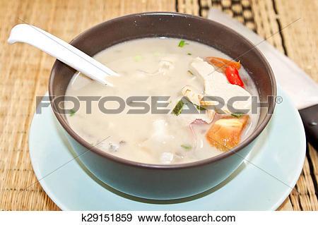 Stock Photograph of Tom Kha Gai soup k29151859.