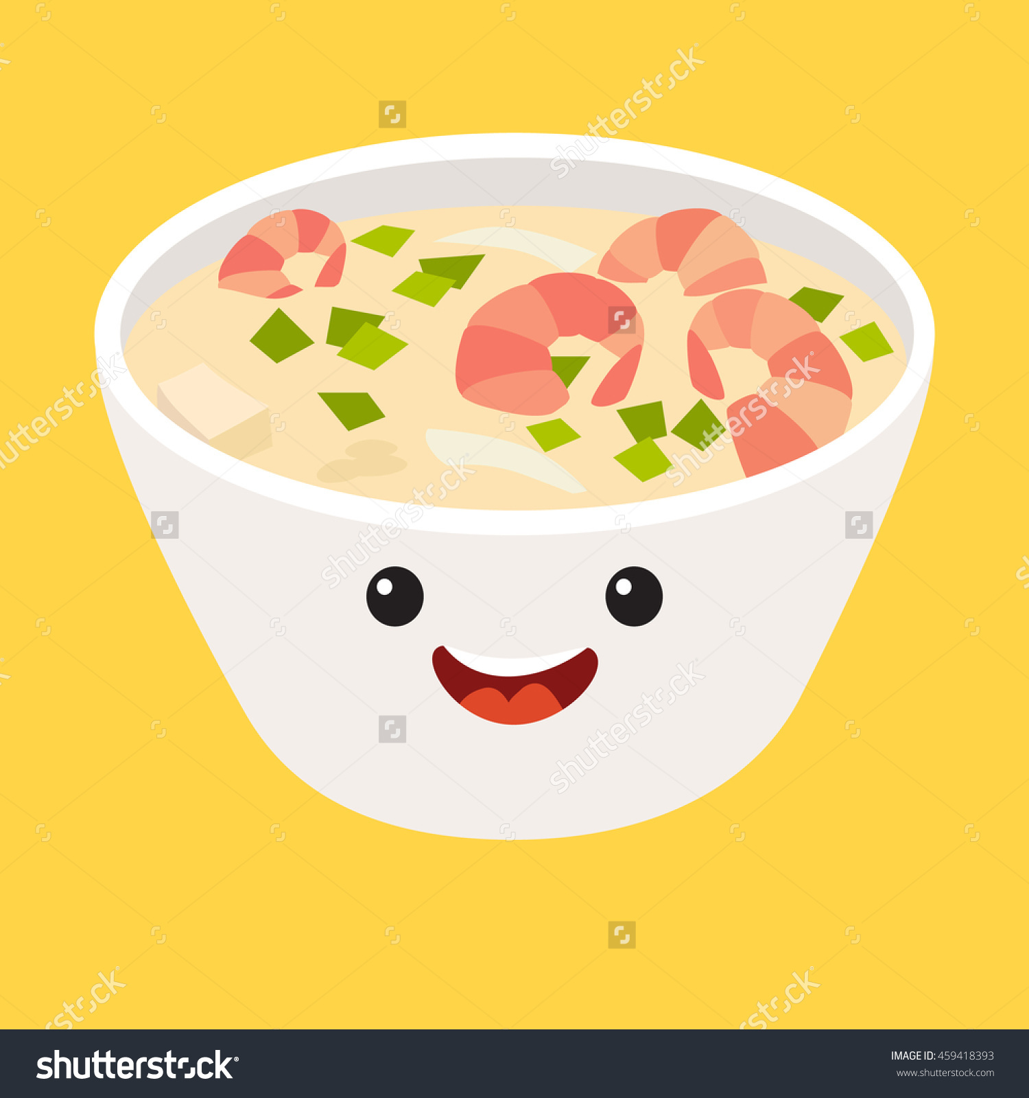 Fun Tom Kha Kai Vector Cartoon Stock Vector 459418393.