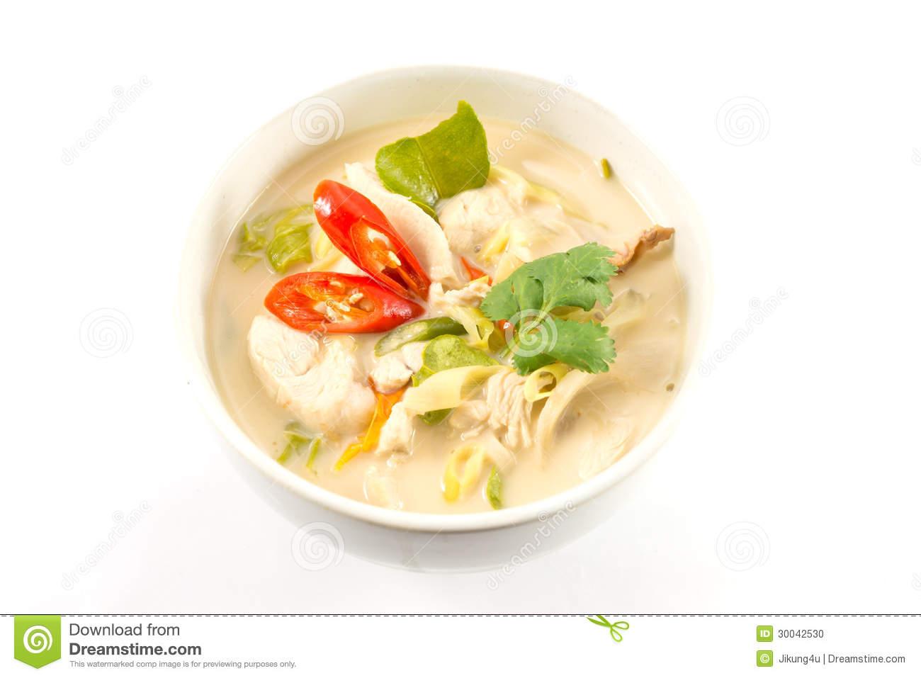 Tom Kha Gai Stock Photo.