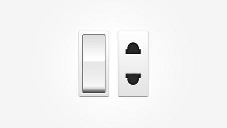 PSD de interruptor e tomada elétrica Clipart Picture.
