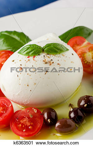 Stock Photography of Tomato Mozzarella Salad k6363501.