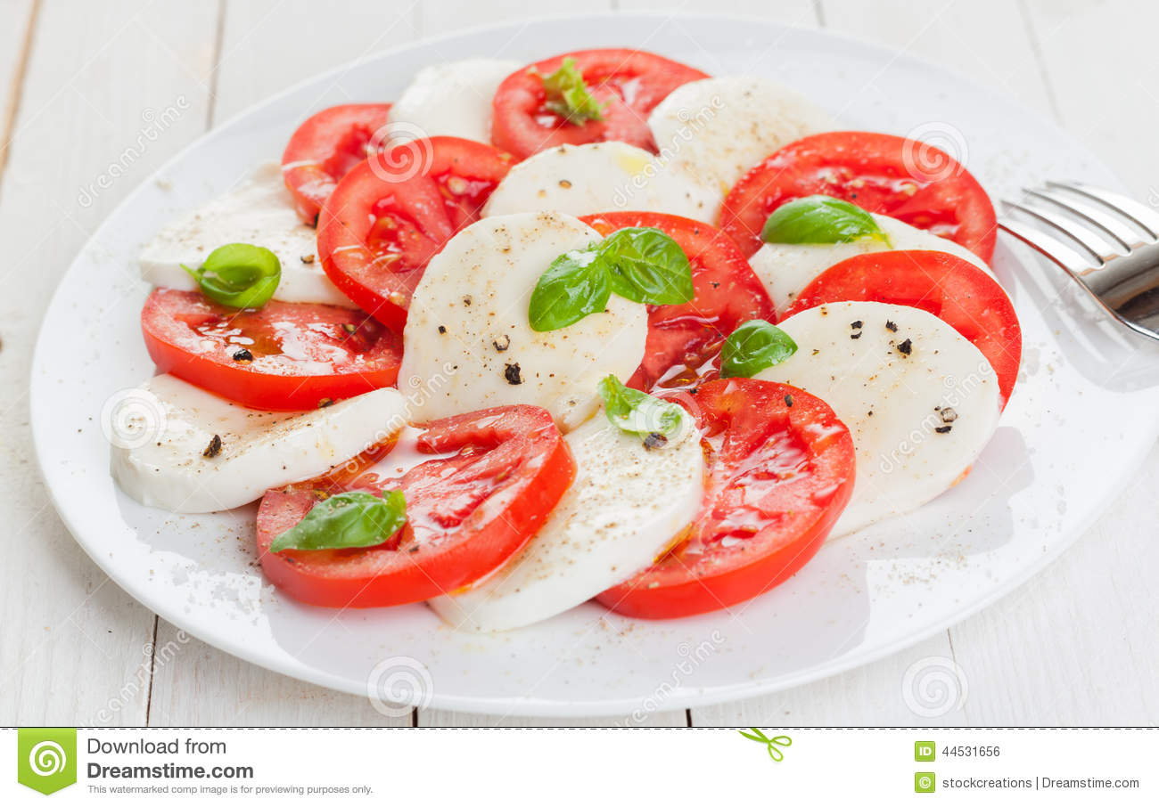 Tomato And Mozzarella Salad Royalty Free Stock Photos.