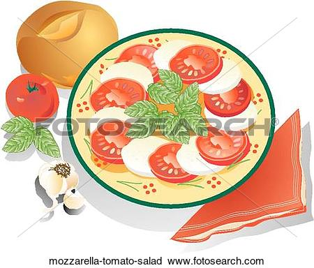 Clipart of Mozzarella & Tomato Salad mozzarella.