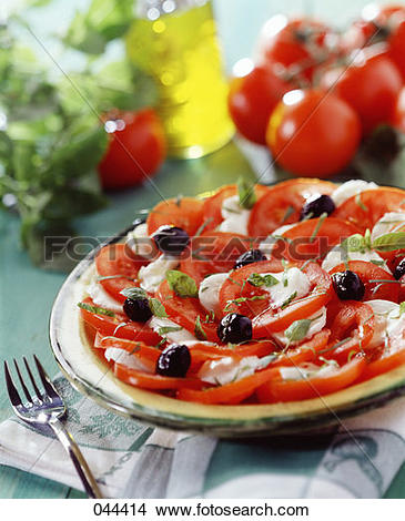 Stock Photo of Tomato and mozzarella salad 044414.