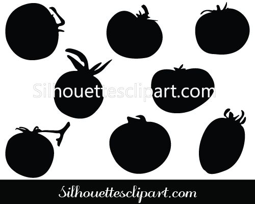 Tomato Silhouette vector illustration.
