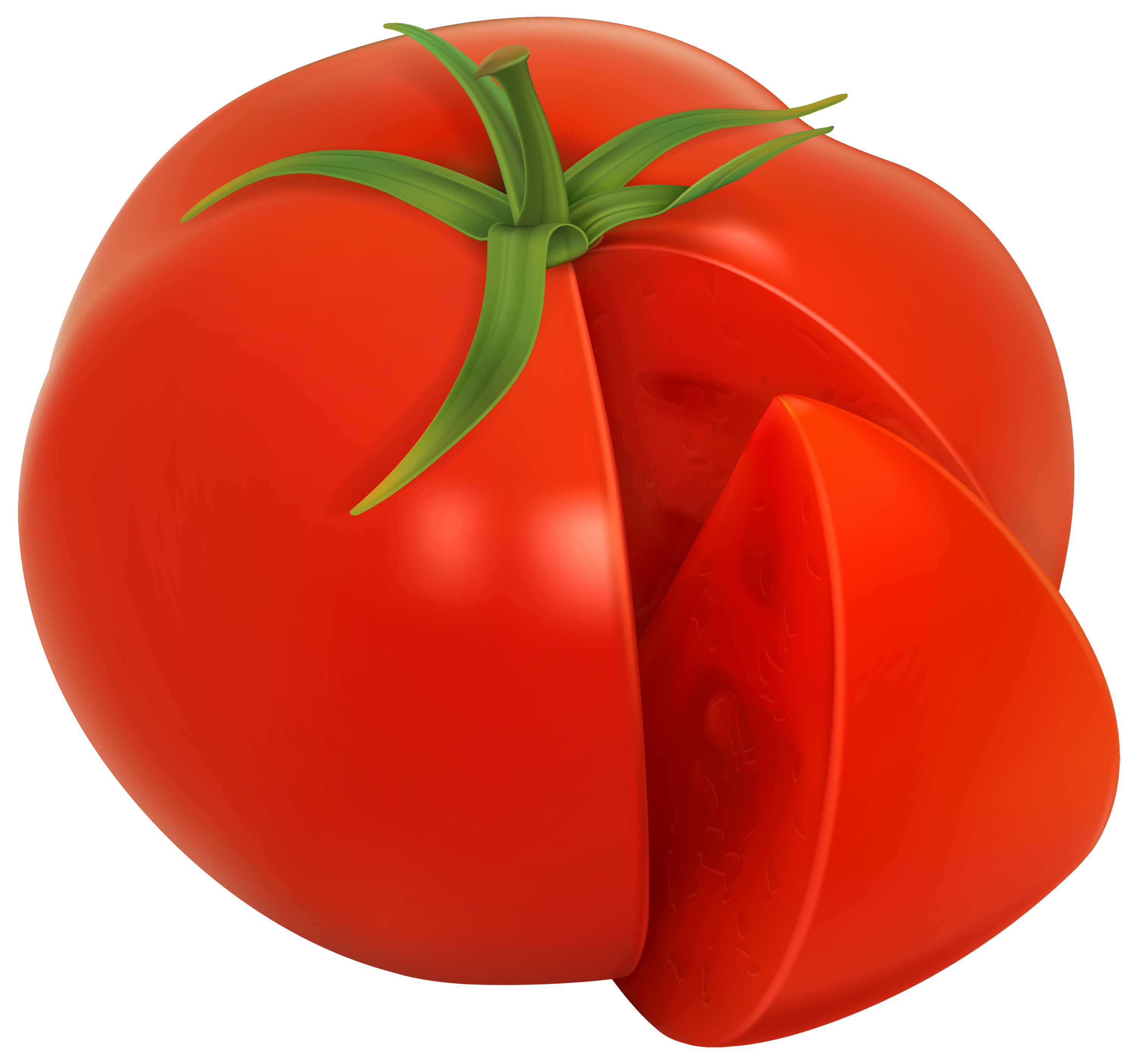 Tomato PNG Clipart Image.