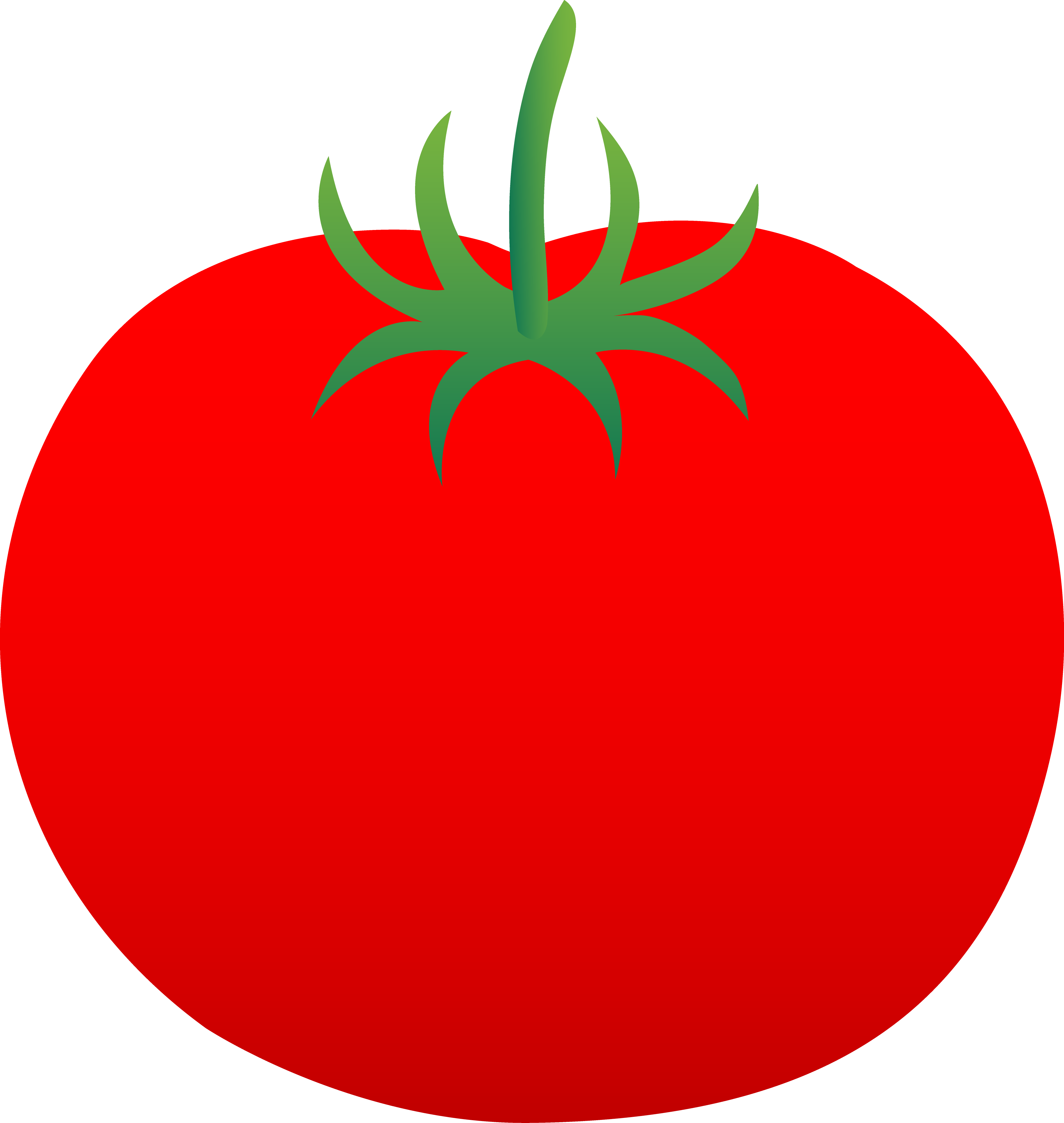 Whole Ripe Red Tomato.