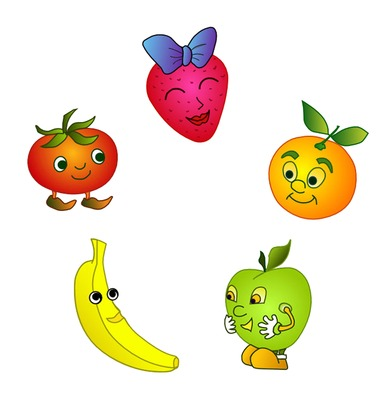 Animated Fruit Clipart.