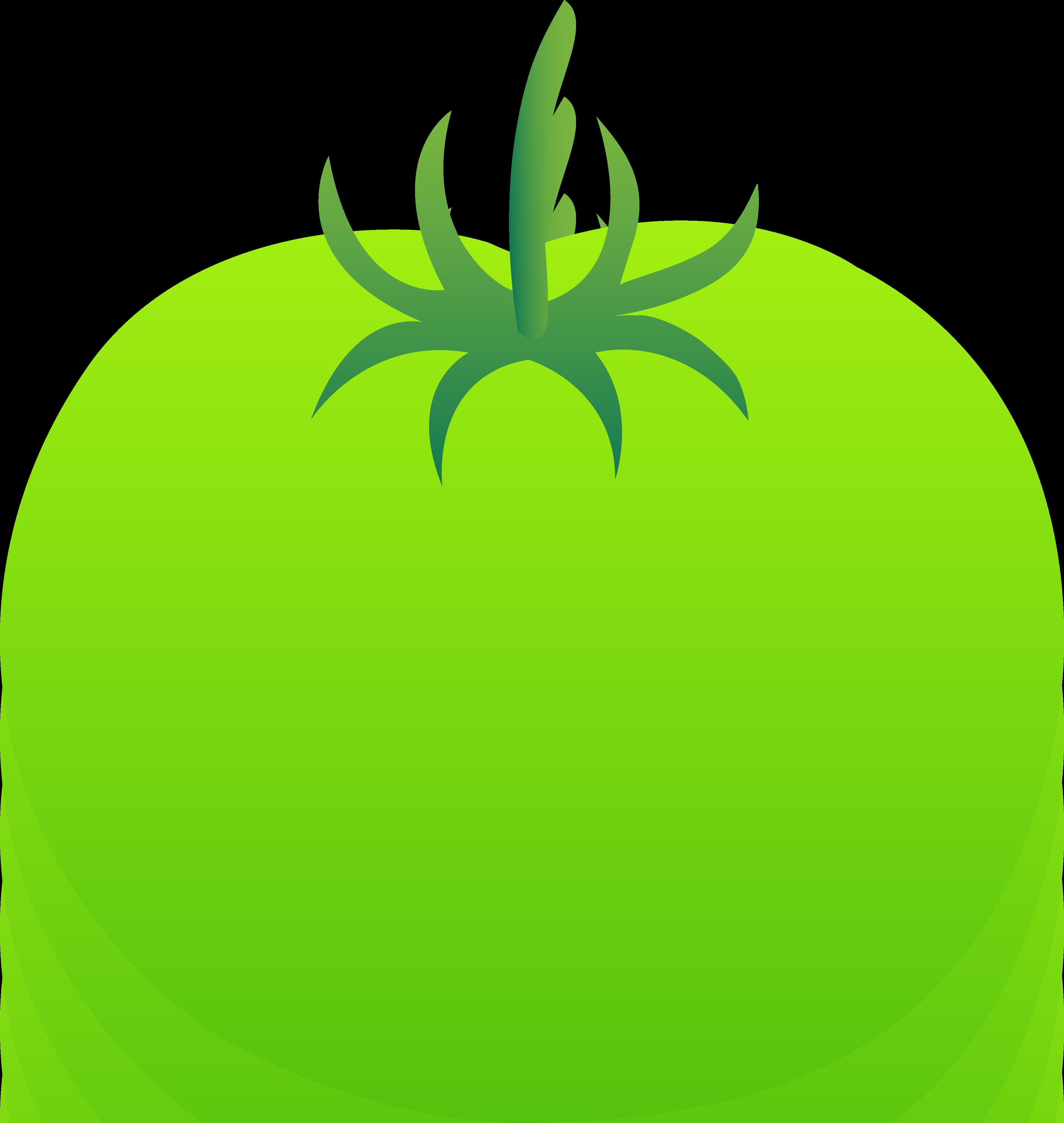 Whole Bright Green Tomato.