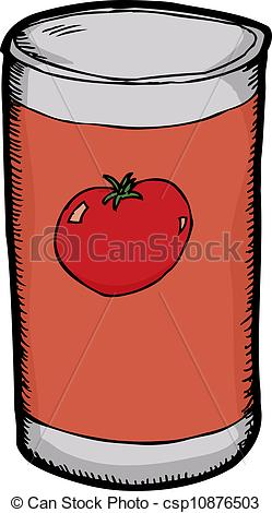 Vector Clipart of Can of Tomato Paste.