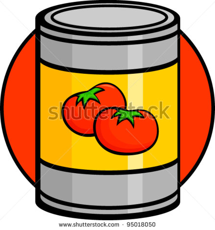 Tomato can clipart.