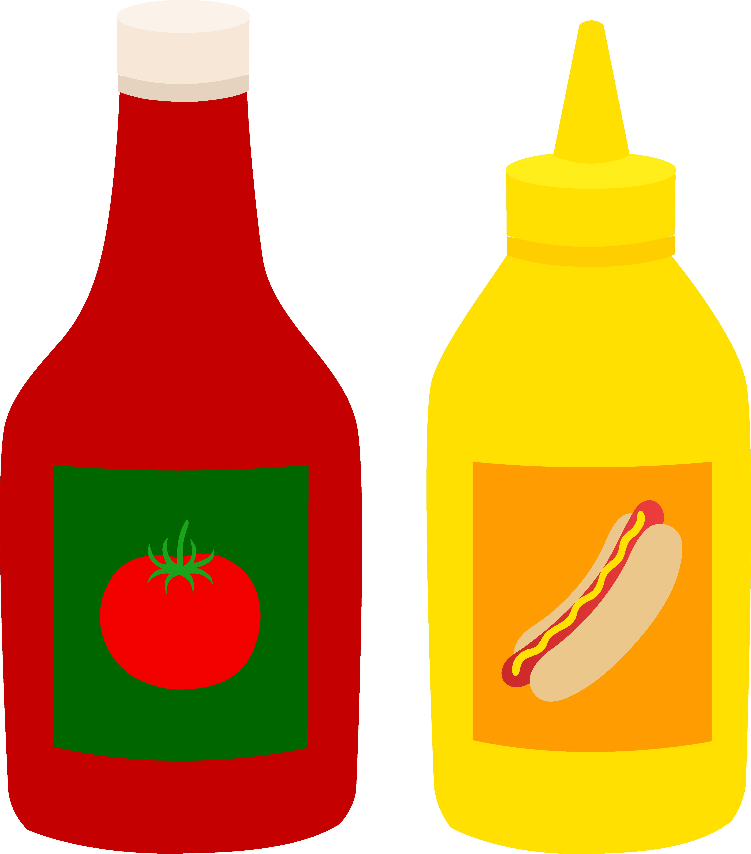 Tomato sauce bottle clipart.