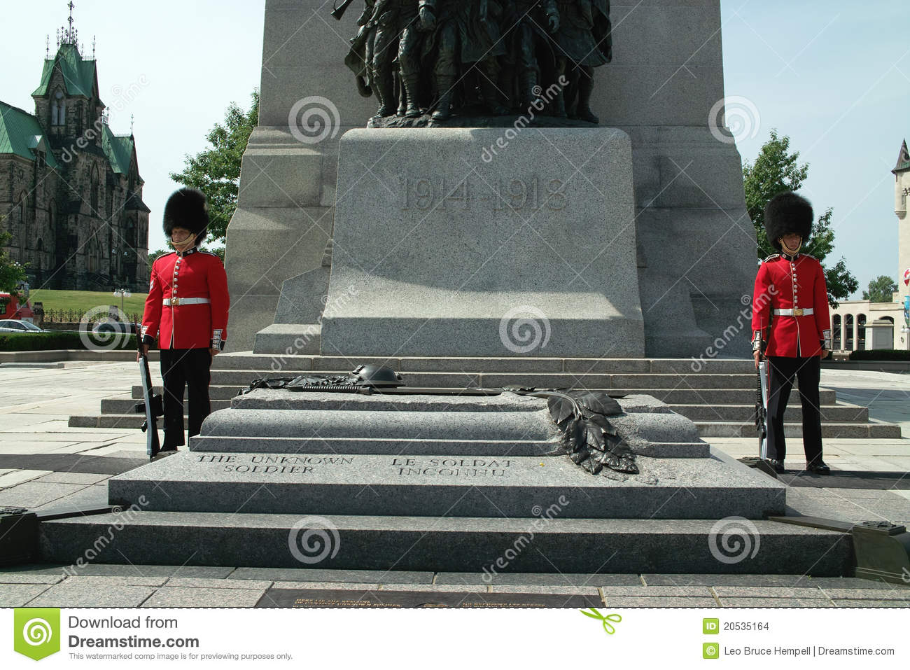 Canada Tomb Of The Unknown Soldier Editorial Photo.