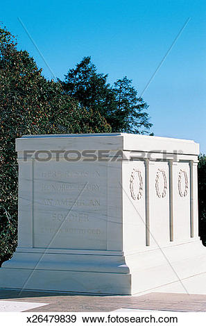 Stock Photograph of Tomb of the Unknown Soldier, Washington, DC.