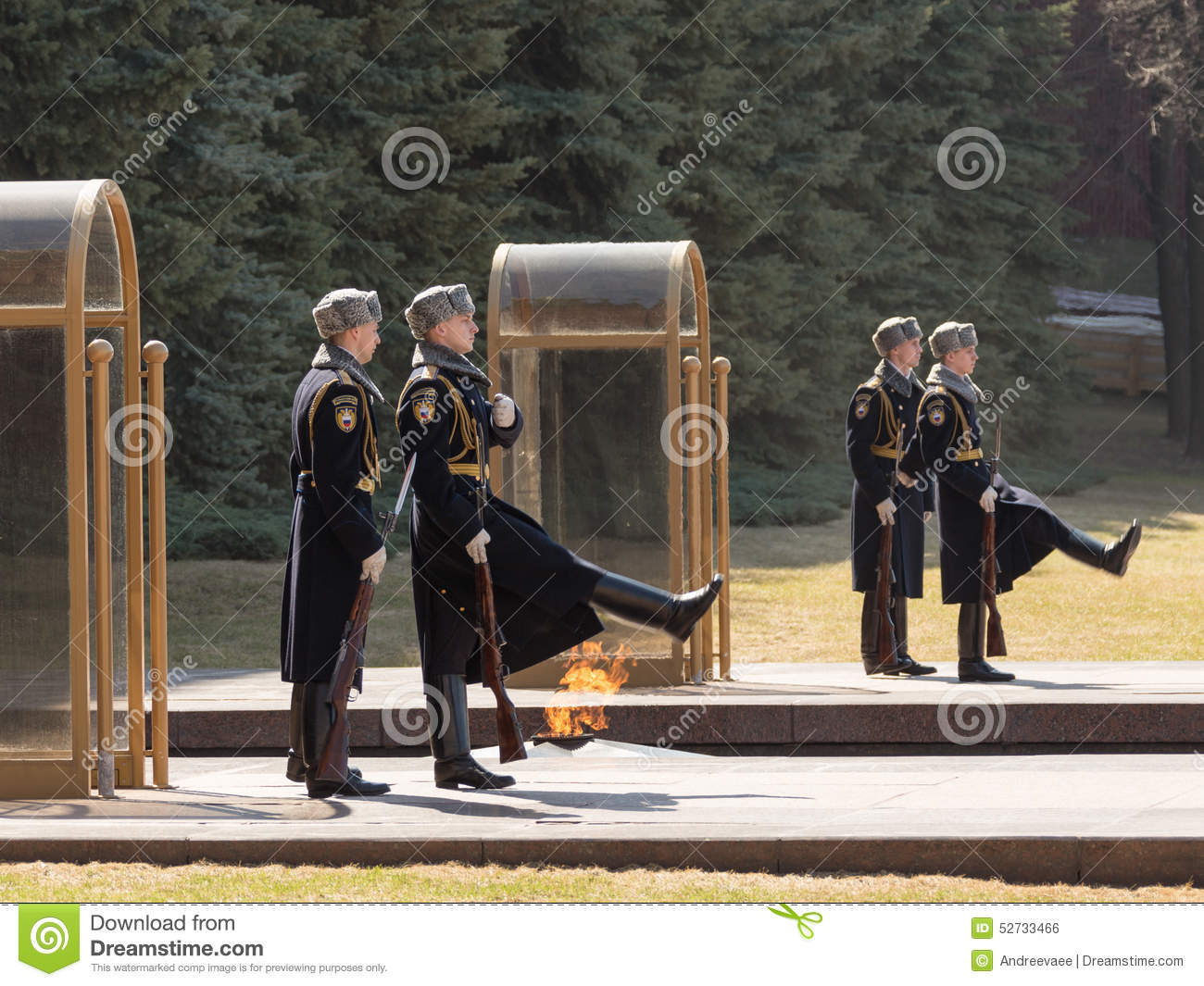 Change Of The Guard Of Honor At The Tomb Of The Unknown Soldier.