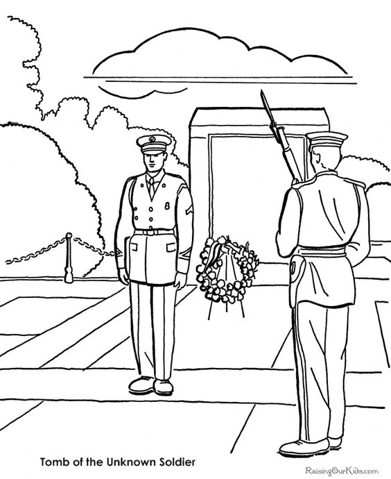 Tomb of the Unknown Soldier pictures to color.