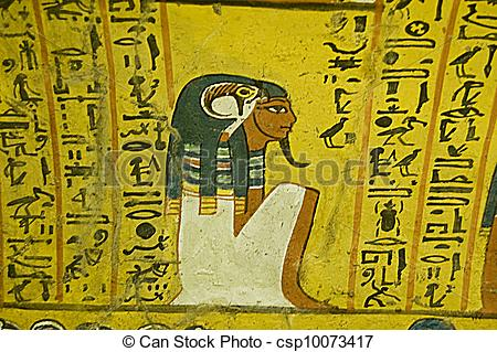 Stock Photography of Horus and Noble, Ancient Egypt.