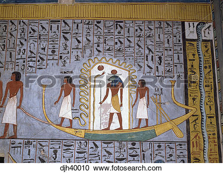 Stock Photography of Egypt, Luxor, Valley of the Kings, Ramses 1.