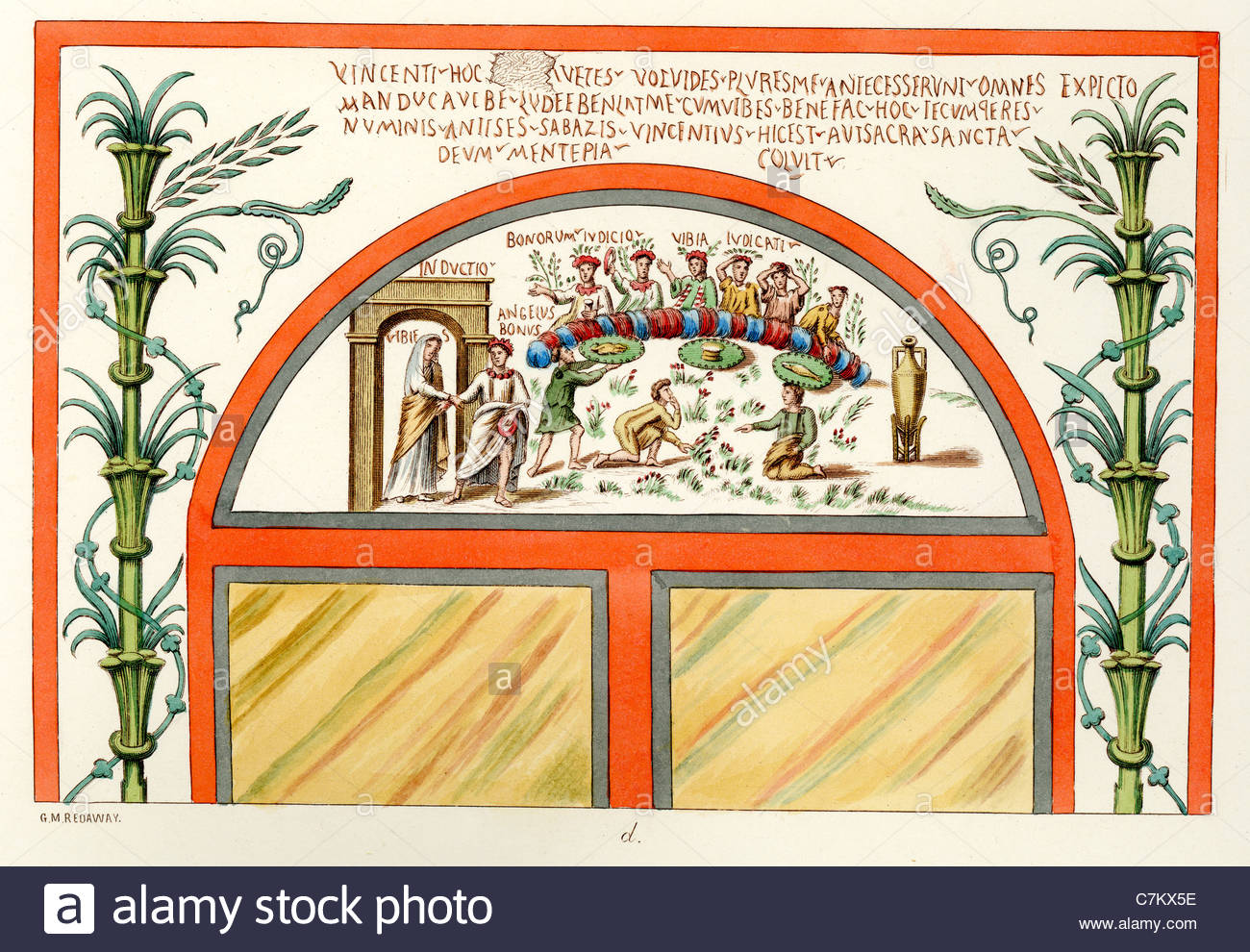 Illustration From A Painting In The Tomb Of A Woman Named Vibia In.