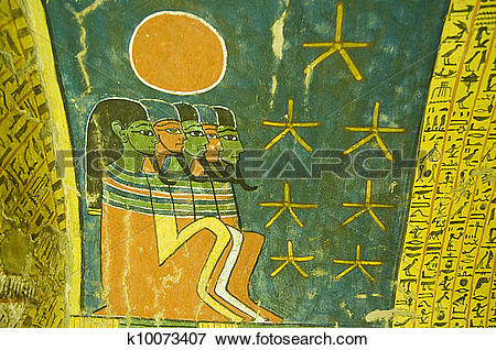 Picture of Ancient Egyptian Tomb Painting with k10073407.