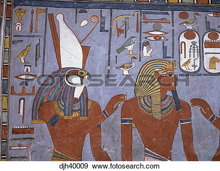Stock Photograph of Egypt, Luxor, Valley of the Kings, Ramses 1.