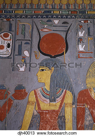 Stock Photo of Egypt, Luxor, Valley of the Kings, King Horemheb's.