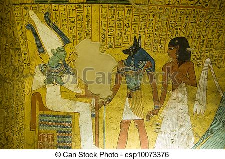 Picture of Tomb Painting from Ancient Egypt.