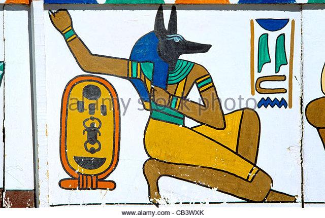 Tomb Painting Anubis Stock Photos & Tomb Painting Anubis Stock.