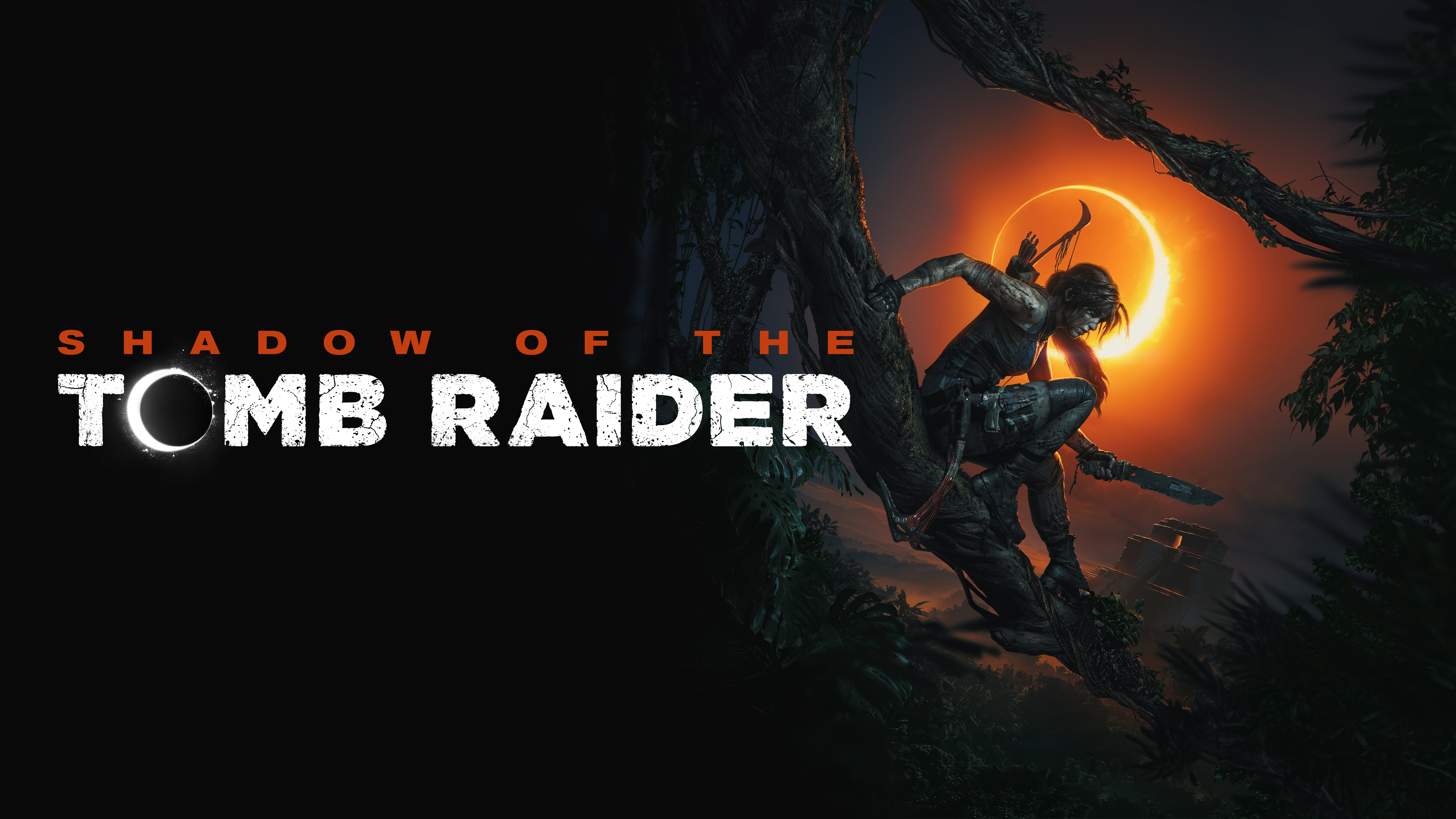 Shadow of the Tomb Raider Logo Lara Croft 8K #15434.