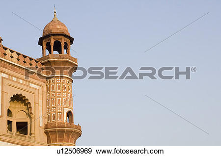Stock Photograph of Low angle view of the watch tower of a.