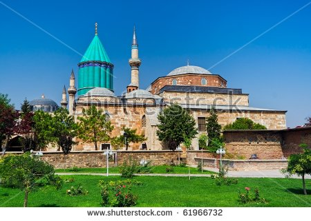 Tomb Of Mevlana, The Founder Of Mevlevi Sufi Dervish Order, With.
