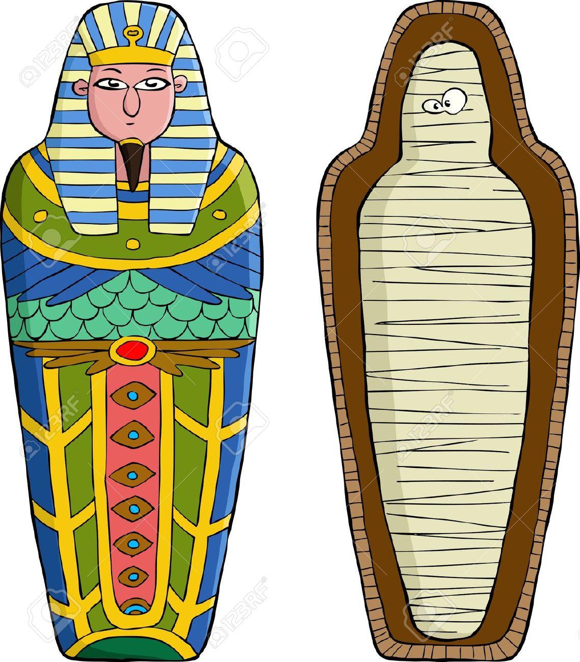 Mummy tomb clipart.