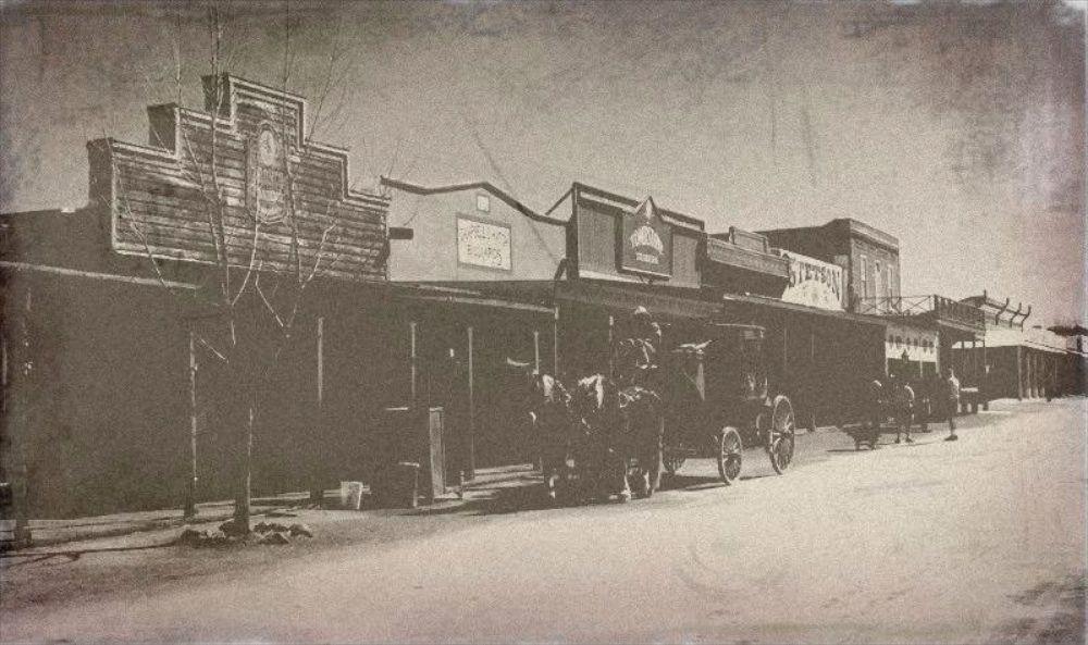 Stagecoach on Allen Street in Tombstone, Arizona.