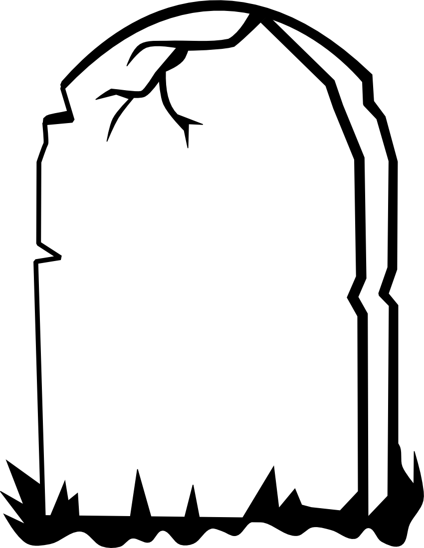 Tombstone clipart black and white 1 » Clipart Station.