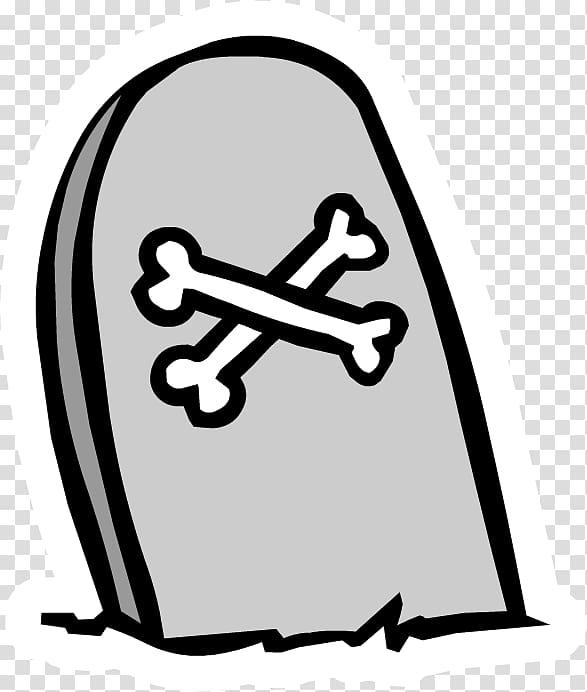 Headstone Club Penguin Sticker YouTube, tombstone.