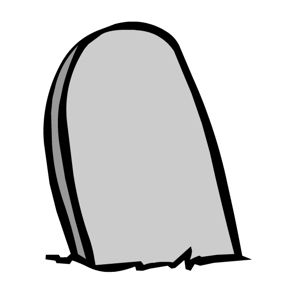 Tombstone Cartoon.