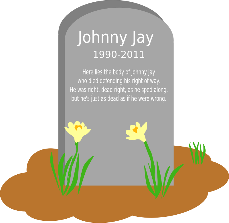 Dead clipart tombstone.