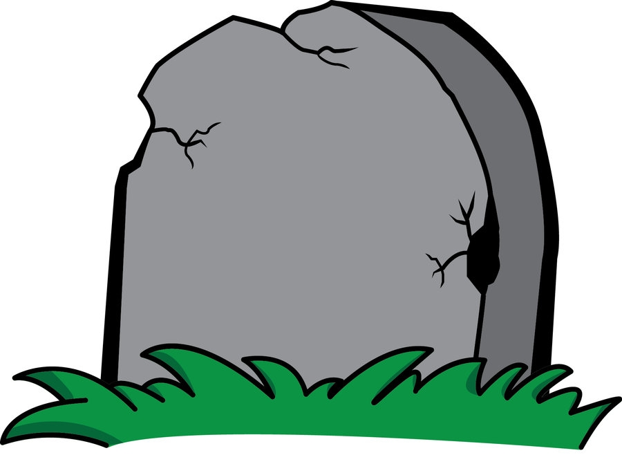 Tombstone Clip Art at Night.
