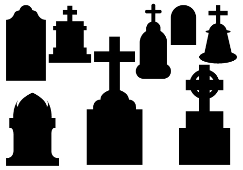 Tombstone rip black and white clipart kid.