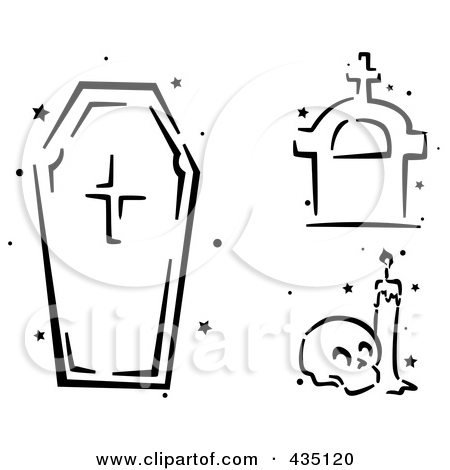Tombstone Clipart Black And White No Outline.
