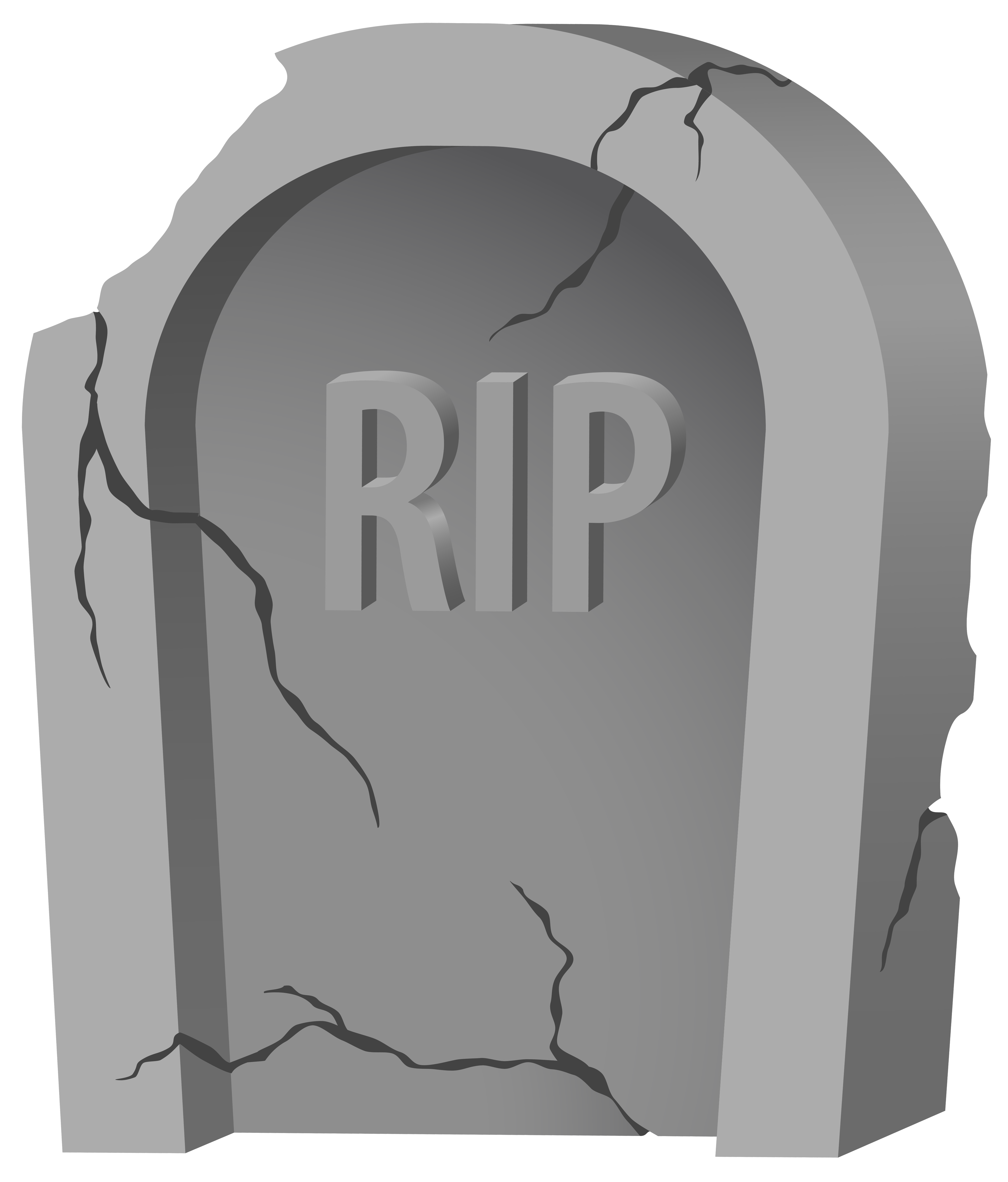 RIP Tombstone and Purple PNG Clipart Image.