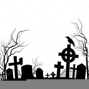 Tombstone Clipart Black And White.