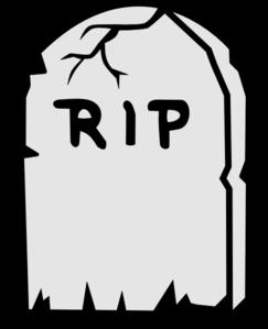Rip Tombstone Clip Art at Clker.com.