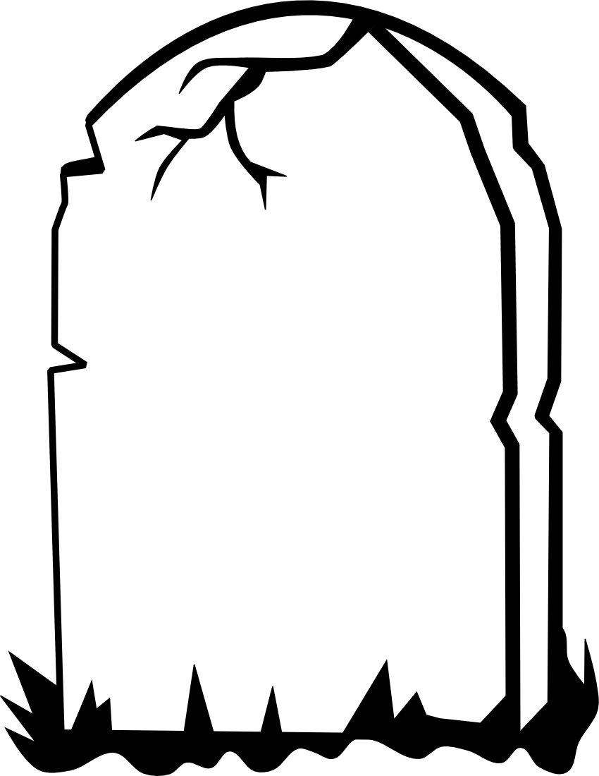 Blank Tombstone Template.