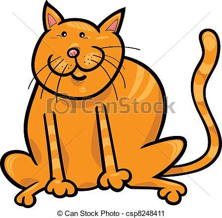 Vector Clip Art of Yellow cat.