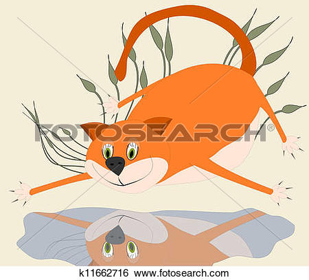 Stock Illustration of The beautiful tomcat k11662716.